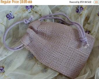 ONSALE One Dozen Faded Lavender Burlap Bags