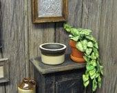 Dollhouse Miniature Crock Pot Country Planter