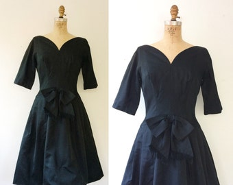 50s party dress / black party dress / Rendezvous dress
