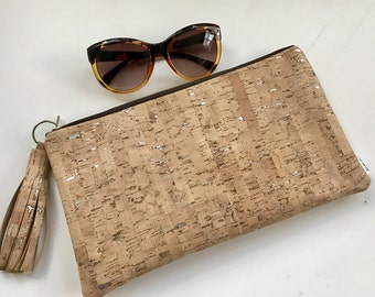 Cork clutch bag, Cork Statement Bag, Evening Bag, Bridesmaids Gifts, Cork Clutch Bag,