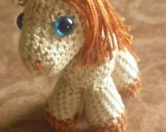 Nougatine petit poney Amigurumi kawaii 6 cm
