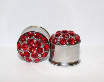 "Ruby Red Wedding Plugs  3/4""  19mm Double Flare"