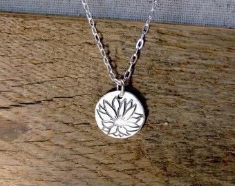 Bitterroot Flower Necklace