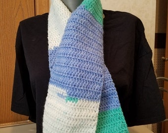 Spearmint Pop Variegated Yarn Scarf
