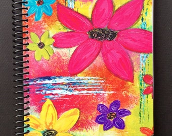 "Abundance of Flowers 5.5""x8.5"" Lined Paper Coil Bound Notebook, Journal, Wholesale Notebooks, Wholesale Journals, Stationery"