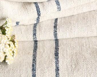 R 106 antique hemp linen roll 리넨 DEEPSEE BLUE  fabric 5.46yards wedding decor lin 22.83wide