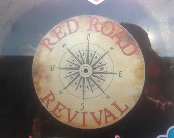 4.5 inch Red Road Revival car sticker