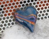 Striped Dark Blue Glass H...