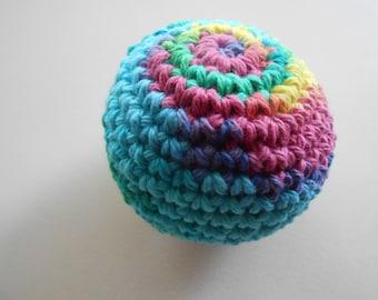 Large Crochet Stress Ball Stuffed. Colorful