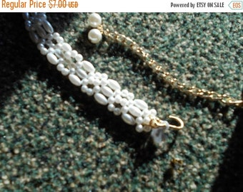 2 DAY SALE Vintage Faux Pearls Beads Lady,s Belt, Hong Kong