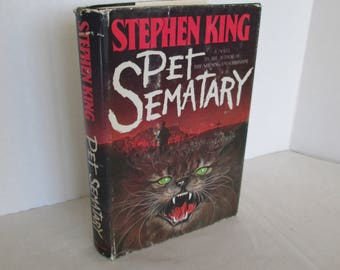 Pet Sematary by Stephen King Vintage Hardcover Book