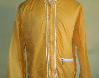 M 50s  60s Men's Windbreaker Gold Tops All Jacket As Is