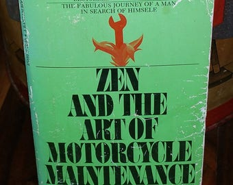 Zen And The Art Of Motorcycle Maintenance by Robert M. Pirsig Vintage Paperback Book