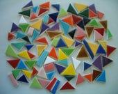 93T - CHICKLETS 93 pcs - Fun, COLORFUL Tiny Tiles - Ceramic Mosaic Tiles