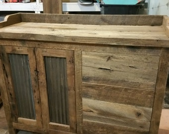 YOUR Custom Rustic Barn Wood Changing Table and Dresser FREE SHIPPING-CBWDS900D