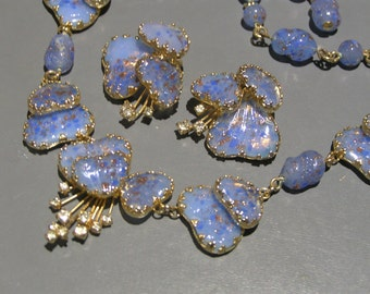 Vintage Julio Marner Necklace . Clip-on Earrings . Costume jewelry