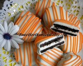 Orange Chocolate Covered Oreos Cookies Party Favors Wedding Favors Baby Shower Cookies Dessert Table Orange Birthday Party