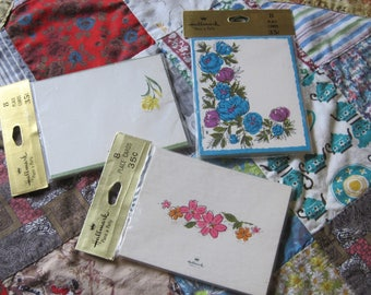 Three Adorable Unopened Packages of Hallmark Floral Place Cards