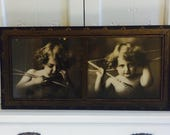 Antique Cupid Pictures in Rare Large Size and Frame