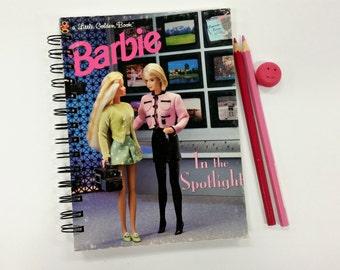 Barbie in the Spotlight, Recycled Little Golden Book Journal