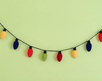 Christmas Lights, Vintage Style Christmas Light Garland Photo Prop