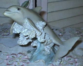 DELIGHTFUL - DOLPHIN Figurine - Made in Italy - Ceramic - Sculpture