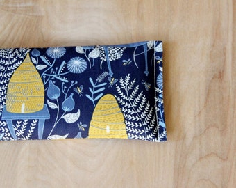 Navy Lavender Eye Pillow, Honey Bee Hive Botanical, Relaxation Gifts for Women