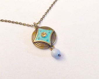 Turquoise Copper Charm Necklace