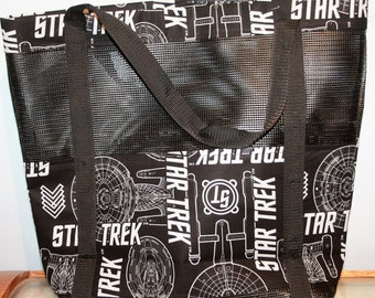 Star Trek Black Vinyl Mesh Tote