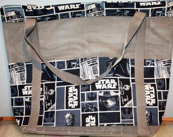 Star Wars Grey Vinyl Mesh Tote