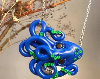 Seattle Sea Hawks, Touchdown, Octopus Necklace