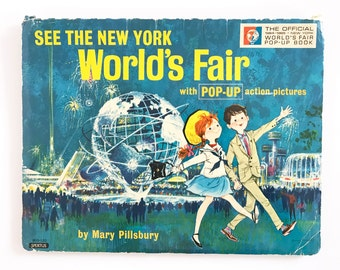 Vintage Pop Up Book See the New York World's Fair