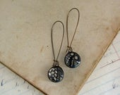 Black Lace Boho Earrings Stained Glass Jewelry