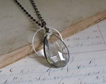 Crystal Long Necklace Vintage Chandelier Glass