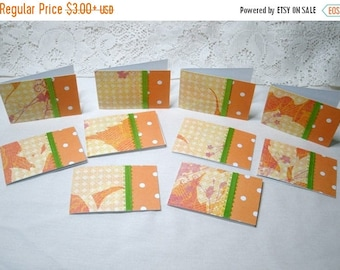 50% OFF Spring Cleaning Set of 10 Mini  Note Cards #7376