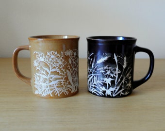 earth tone japanese mugs