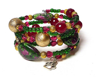 CRUISE CONTROL coil Beaded Bracelet by Beading Divas Fundraiser