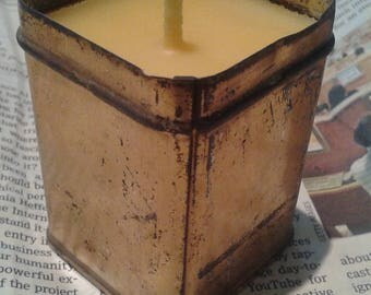 Gold Vintage Box Beeswax Candle - Votive size