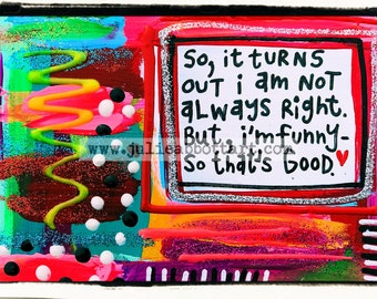 Being An Adult... Print on Wood Canvas