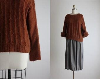 russet mohair sweater