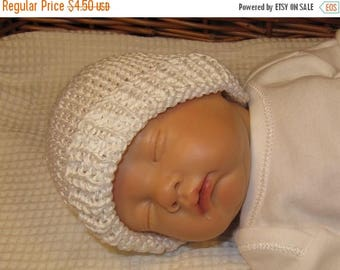50% OFF SALE Instant Digital File pdf download knitting pattern -madmonkeyknits Preemie Baby and Tiny Baby Beanie Hat pdf knitting pattern