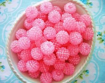 Berry Beads - Bubblegum Pink - 15mm - Set of 20