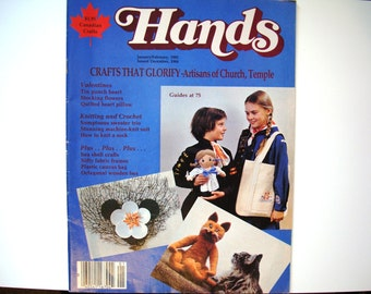 Vintage HANDS Magazine January / February 1985 Issue Girl Guides 75 Year Celebration GGC Brownies Girl Scouts Rosebud Doll Uniform Tote Bag