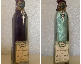 The Draught of Living Death, A Color Change, Harry Potter Inspired Decorative Potion Bottle