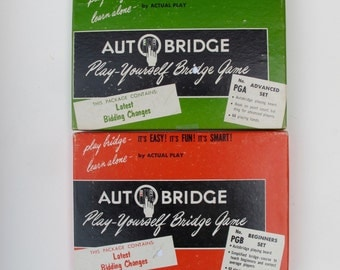 Auto Bridge PGB Beginners Set and PGA Advanced Set / 50s Bridge Games Excellent