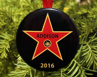 Art or Music Star Christmas Ornament - Customized - C177 - C178
