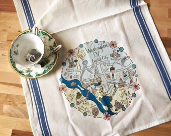 Washington D.C. Map Kitchen/Tea Towel