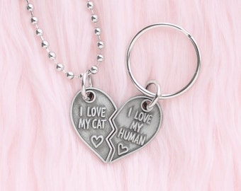 BFF necklace and charm set for you and your cat