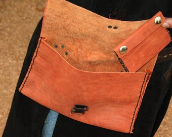Hand Stitched Leather Pouch Set~Renaissance Faire Costume~LARP~Ritual