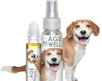 BEAGLE AGE WELL The Blissful Dog Aromatherapy All Natural Support for Your Senior Dog's Aging Helps Your Dog Be More Peaceful & Present